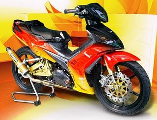 yamaha jupiter mx modif airbrush