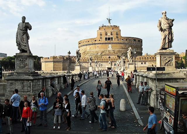 Roman castle front view