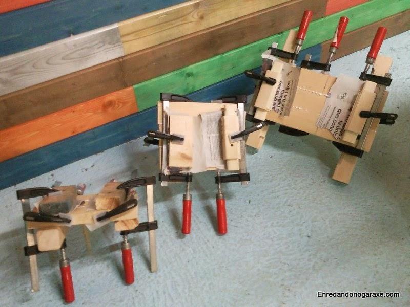 Preparando los tableros de madera de los que haré las ruedas. Enredandonogaraxe.com