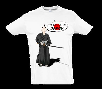 "Camiseta manga corta para hombre ""Bushido"" color blanco"