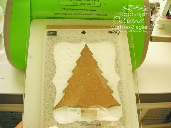 DIY embossing diffuser sandwich for tree