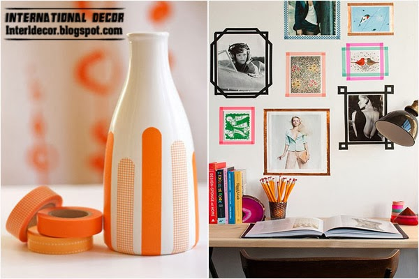 Washi Tape crafts, ideas and projects for interior design