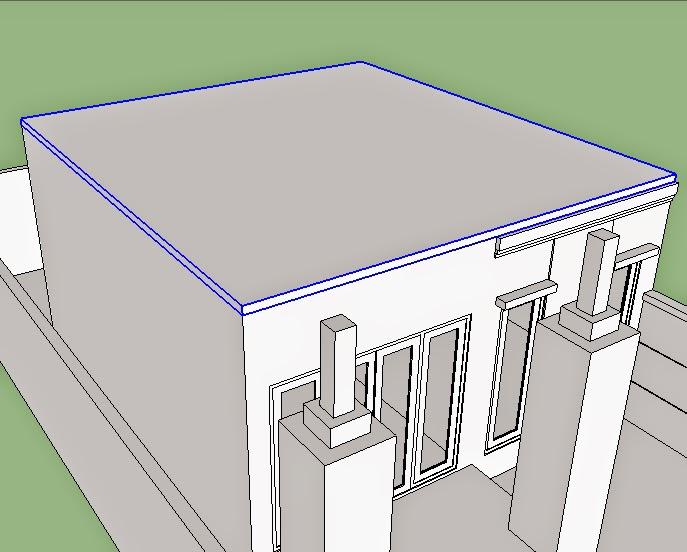 dak beton atap sketchup
