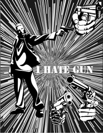 gun vector cdr format