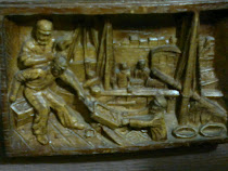 Cuadro antiguo de madera tallada