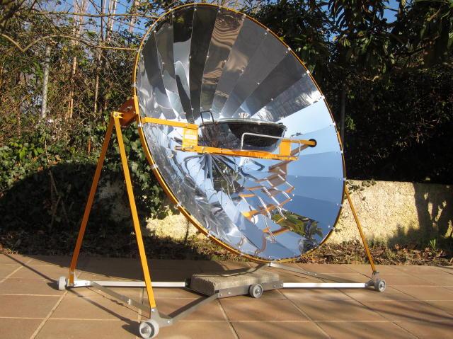 Captura de fotones concurso alsol 2012 de construcci n de for Planos para cocina solar parabolica