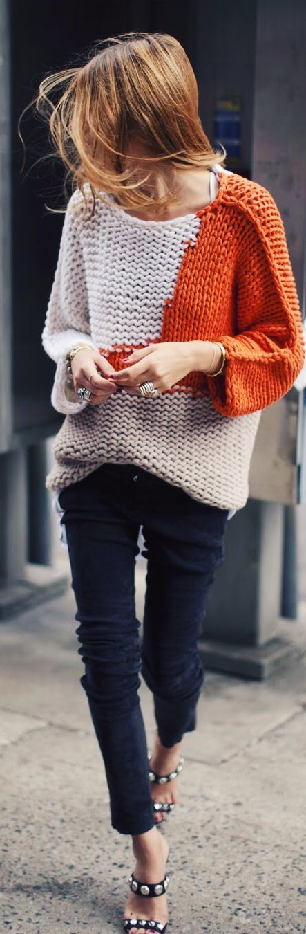 Knit sweater for Fall