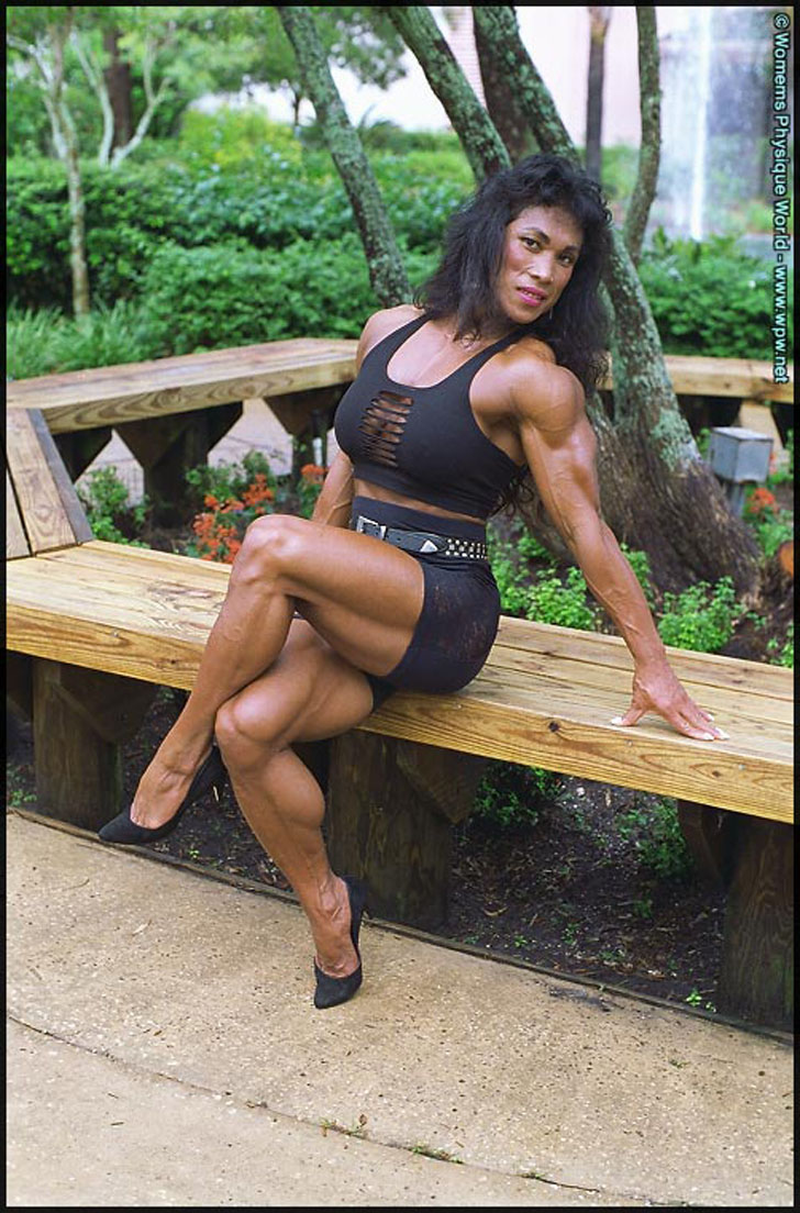 Leilani Dalumpines Flexing Her Ripped Calves And Muscular Physique
