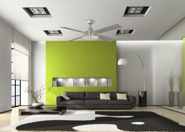 Modern false ceiling for living room interior design 2014 for Modern living room 2014