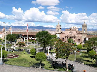 Plaza Mayor de la ciudad de Ayacucho en Perú