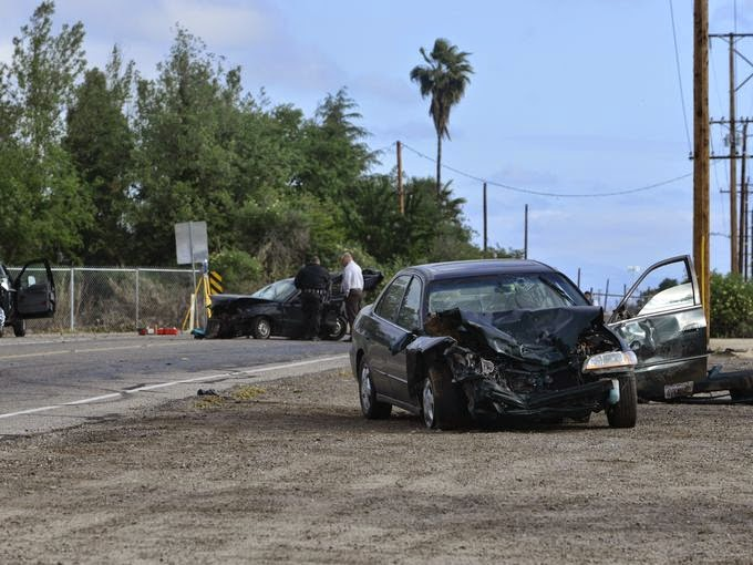 Fresno Visalia Bakersfield Accidents: Traffic Accident on McAuliff