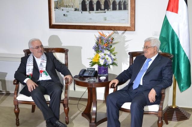 Chefe de Delegação Brasileira em conversa com o Presidente Abbas