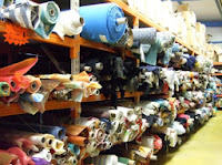 la boutique d'usine de tissus à St Martin le Pin en Aquitaine