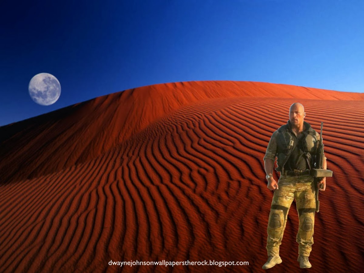 Dwayne Johnson Desktop Wallpapers of Dwayne Johnson Desert Clothing The Rock at Red Moon desktop wallpaper