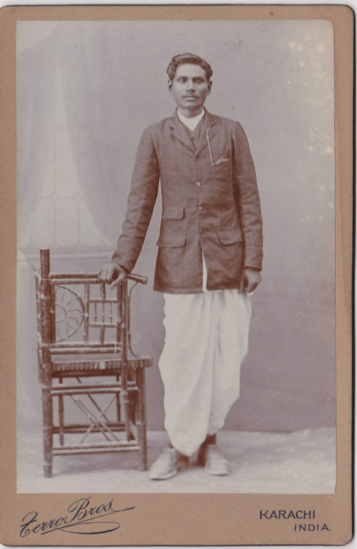 Vintage Studio Photograph of a Man from Karachi