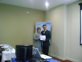 Recebendo Certificado - Curitiba