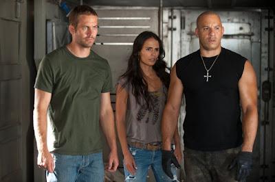 Paul Walker Jordana Brewster and Vin Diesel in Fast Five
