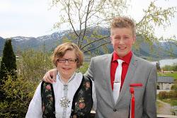 Meg og min kjære son Jonas Elmin
