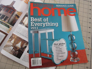 "Hey, we're in the 2011 ""Best Of"" issue of Westchester Home Magazine!   AND again in 2012!"
