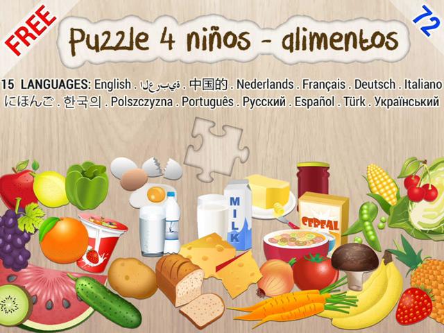 Puzzles de alimentos