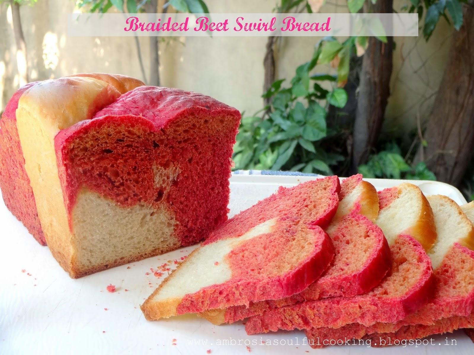 braided beet swirl bread (vegan)