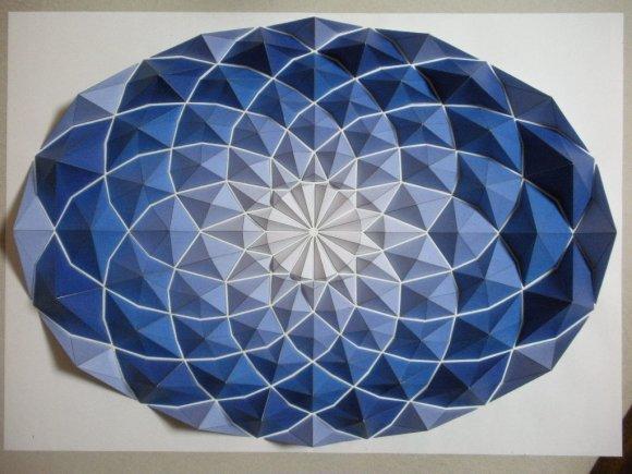 kota hiratsuka mosaicos de origami papel colorido