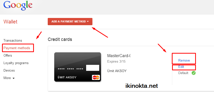how to delete card from google pay