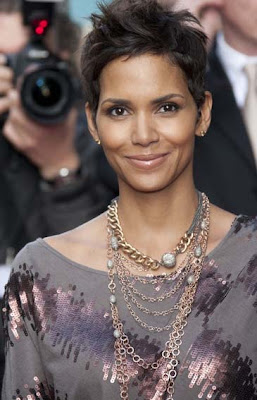 Halle Berry Layered Chainlink Necklace
