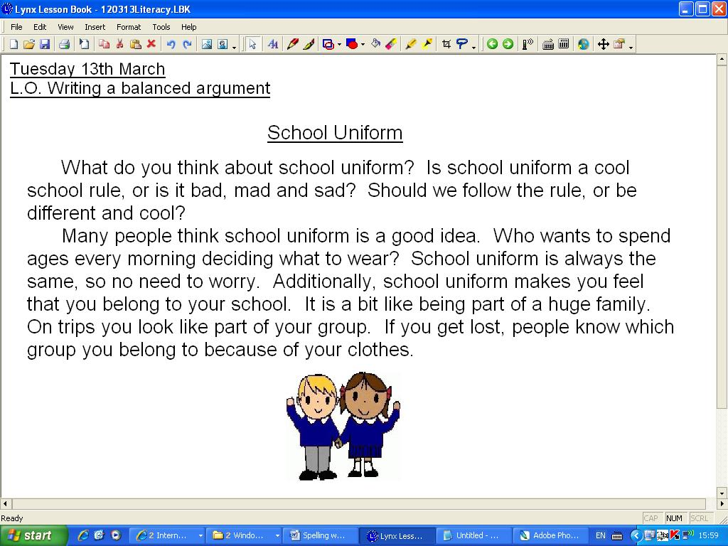 Persuasive essay on school uniform - Get Help From Custom College ...