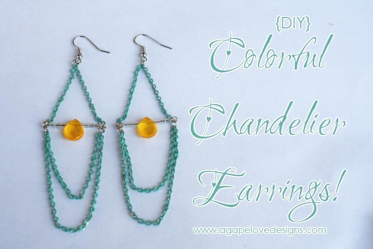 Agape love designs diy colorful chandelier earrings aloadofball Choice Image