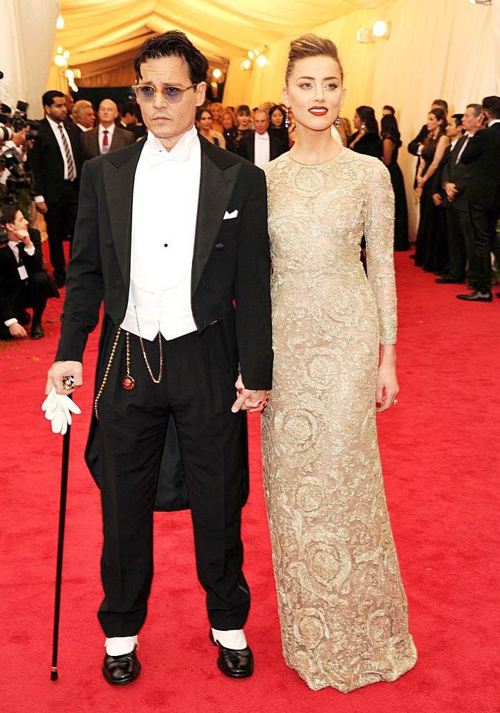 Fashionable Couples at the 2014 Met Gala Amber Heard in Giambattista Valli and Johnny Depp in Ralph Lauren