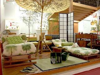 sala decorada com estilo oriental