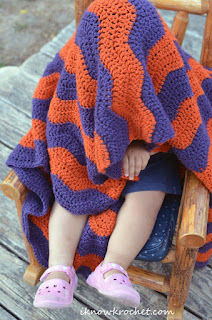 toddler sized chevron blanket