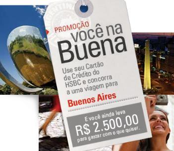 Promoção HSBC você na Buena, 26 viagens