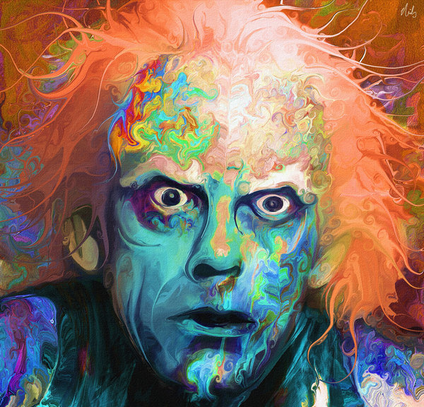 02-Doc-Emmett-Brown-Back-to-the-Future-Nicky-Barkla-Psychedelic-Celebrity-Portrait-Paintings-www-designstack-co