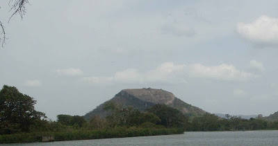 View from lake, Sigiriya, Pidurangala Mountain, stone radar reflector, advanced ancient technology, civilization, alternative hidden history