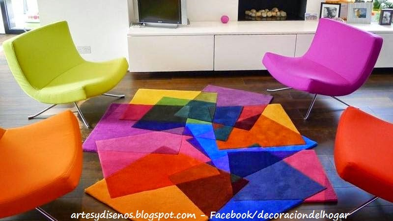 Alfombras para ambientes del hogar decoraci n del hogar for Alfombra colores
