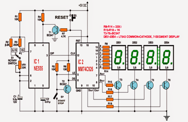 easy electronic circuits how to build a digital stop watch circuit rh ezy circuits blogspot com