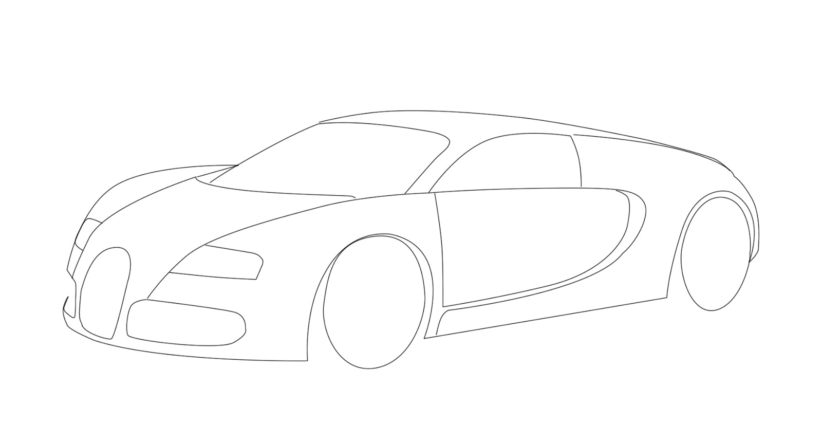 animate world how to draw vector image of bugatti veyron. Cars Review. Best American Auto & Cars Review