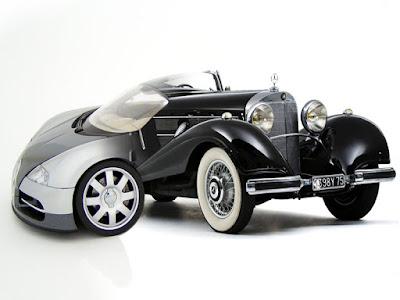 bugatti veyron and 1935 mercedes benz