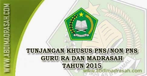 Tunjangan Khusus Guru RA/Madrasah Tahun 2015