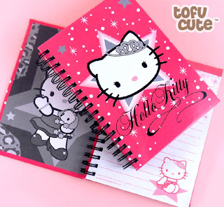 Hello Kitty pink princess notepad