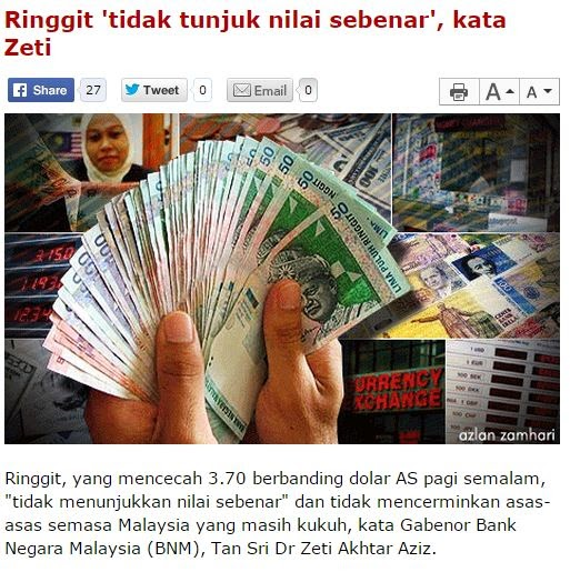NILAI RINGGIT MENJUNAM MALAYSIA AKAN BANGKRAP FAKTA PALING RINGKAS UNTUK JAWAB