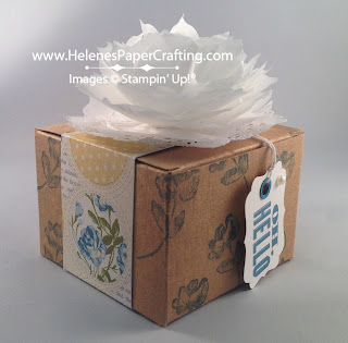 small box decorated with flowers