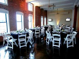 Classy & elegant black & white reception