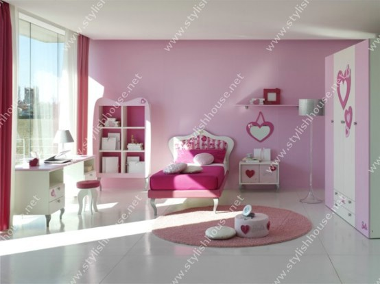Stylish bedroom for pretty young girls for your stylish house
