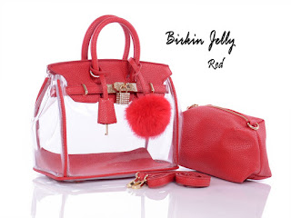 Tas KW Fashion Birkin Jelly Transparan 3064HT Jakarta