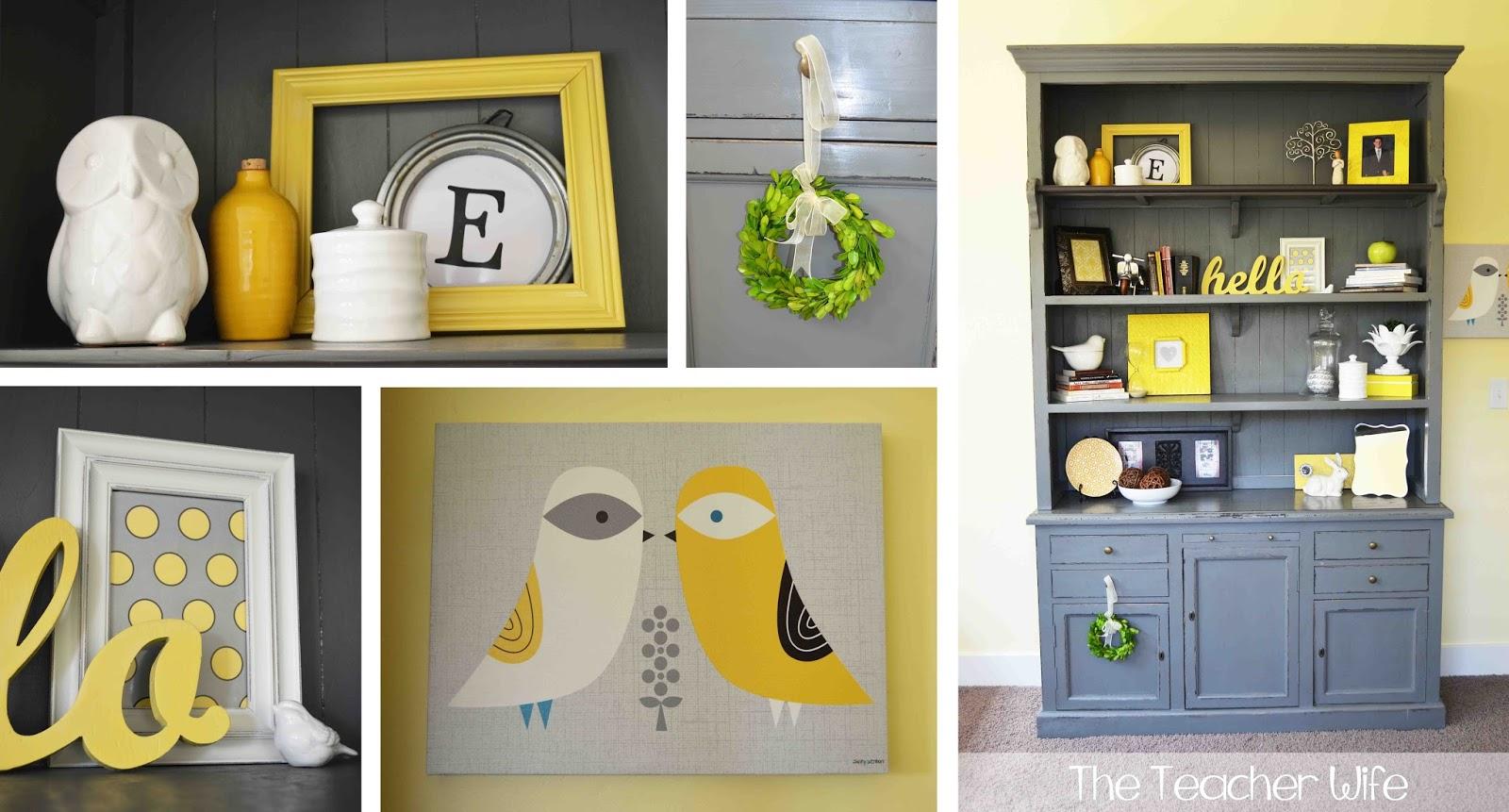 Gray And Yellow Living Room ...