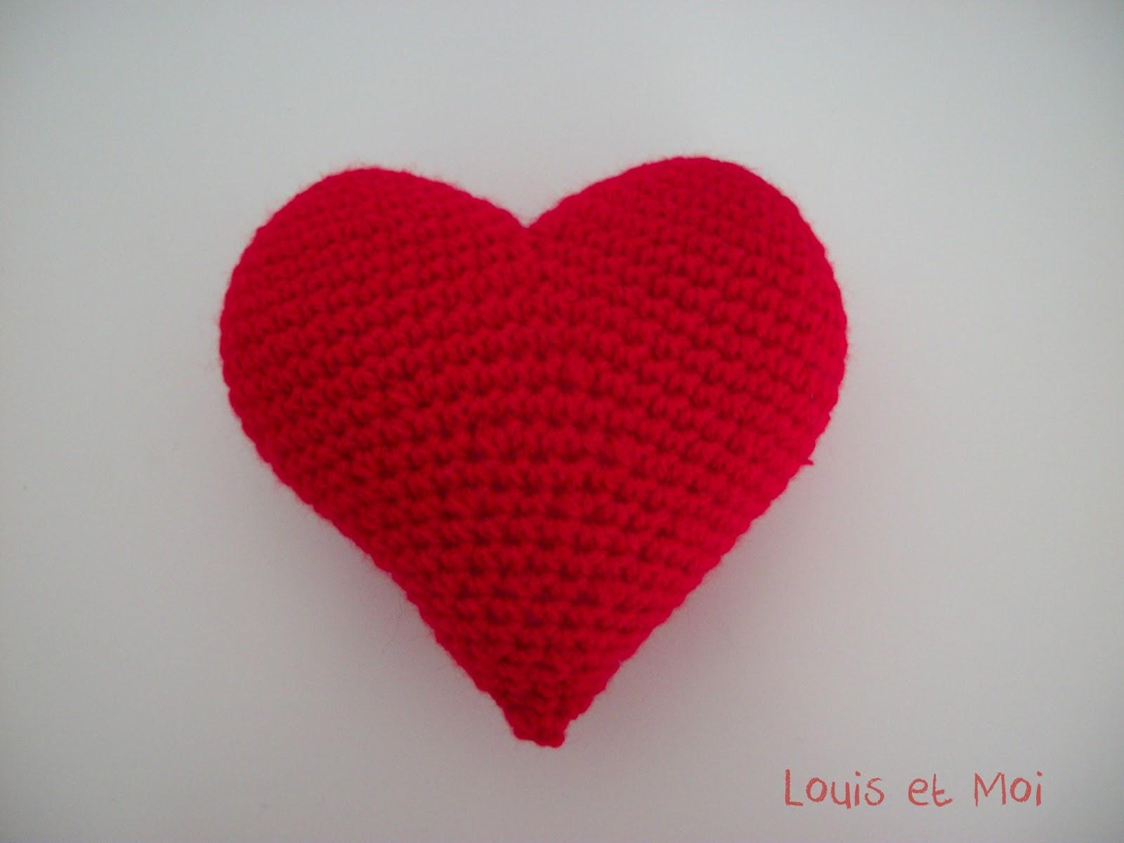 Louis et Moi (cosen y hacen crochet): Corazón de amigurumi