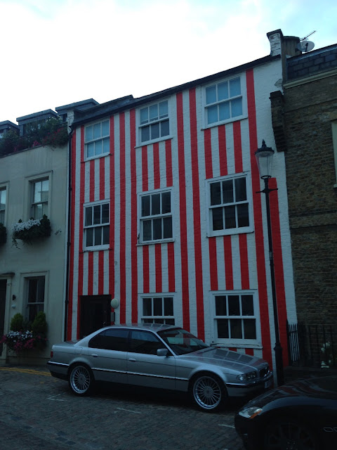Red striped house, Kensington, London W8